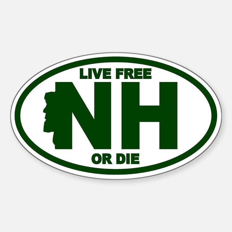 New Hampshire Car Sticker Cafe Press