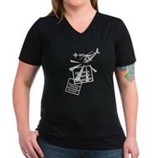 Women's V-Neck Dark MASH T-Shirt