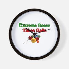 Extreme Bocce Takes Balls Wall Clock