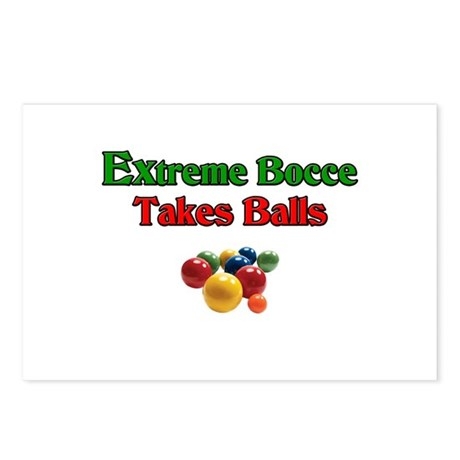 Extreme Bocce Takes Balls Postcards (Package of 8)