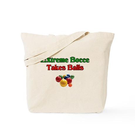Extreme Bocce Takes Balls Tote Bag