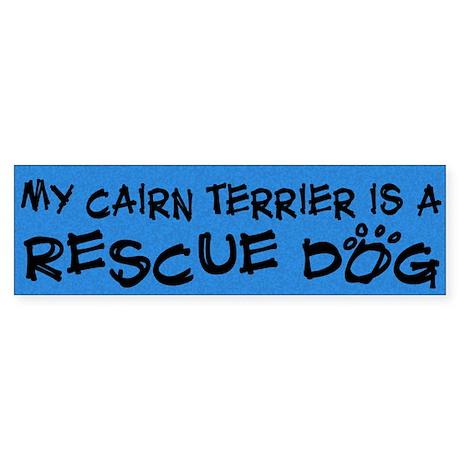 Rescue Dog Cairn Terrier Bumper Sticker