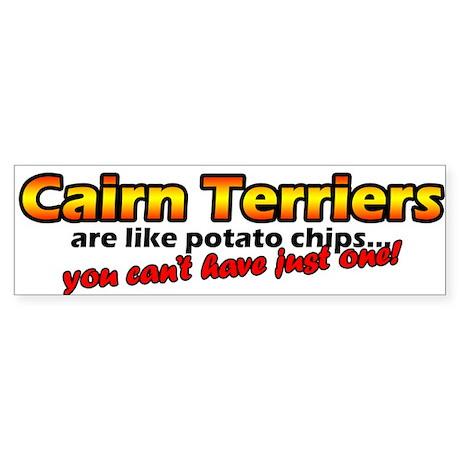 Potato Chips Cairn Terrier Bumper Sticker