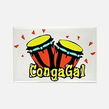 CongaGal Rectangle Magnet