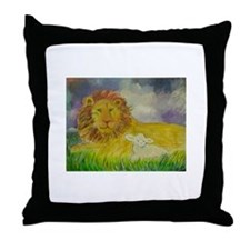 Cute Lion and lamb Throw Pillow