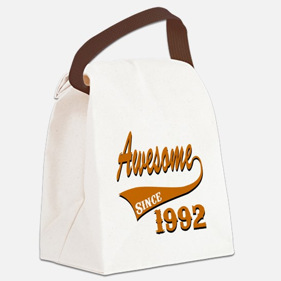 Awesome Since 1992 Birthday Desig Canvas Lunch Bag