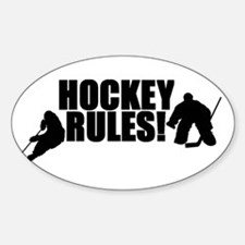 Hockey Rules Oval Decal