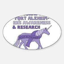 Unicorns Support Alzheimer's awareness & R Decal