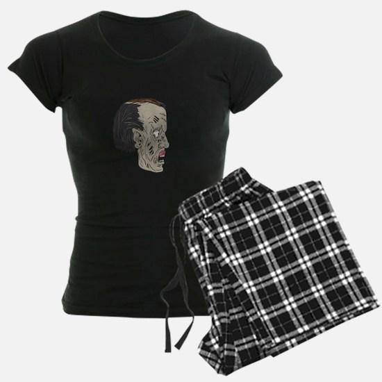 Zombie Head Side Drawing Pajamas