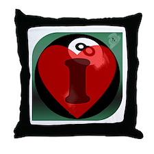 I 'Heart' 8-ball Throw Pillow