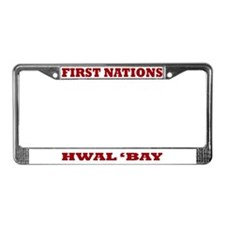 First Nations Hwal 'Bay License Plate Frame