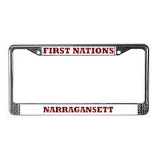 First Nations Narrasgansett License Plate Frame