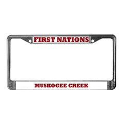 First Nations Muskogee Creek License Plate Frame