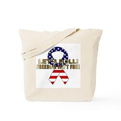 Let's Roll Patriotic Ribbon Tote Bag