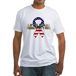 Let's Roll Patriotic Ribbon Fitted T-Shirt