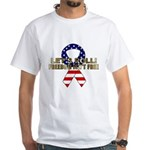 Let's Roll Patriotic Ribbon White T-Shirt