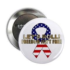 Let's Roll Patriotic Ribbon Button