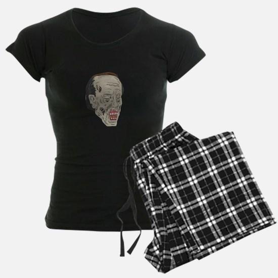 Zombie Head Three Quarter View Drawing Pajamas