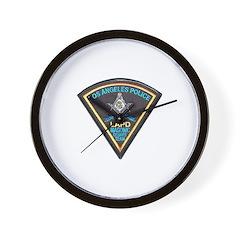 L.A. Police Mason Wall Clock