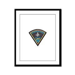 L.A. Police Mason Framed Panel Print