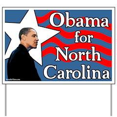 Obama for North Carolina Lawn Sign