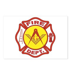Masonic Fire Department Postcards (Package of 8)