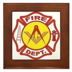 Masonic Fire Department Framed Tile