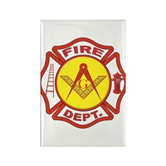 Masonic Fire Department Rectangle Magnet (100 pack