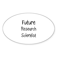 Future Research Scientist Oval Decal