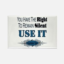 Right To Remain Silent Rectangle Magnet