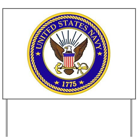 US Navy Emblem Yard Sign