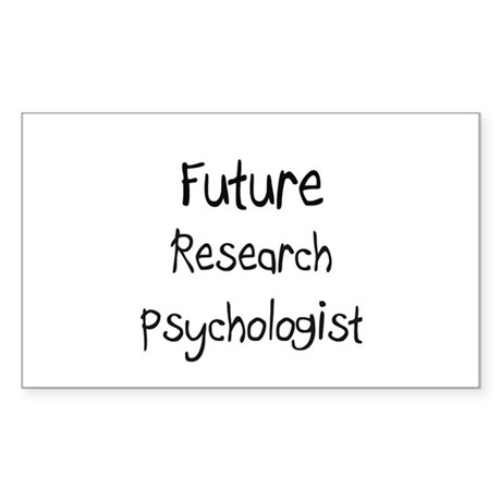 Future Research Psychologist Rectangle Sticker