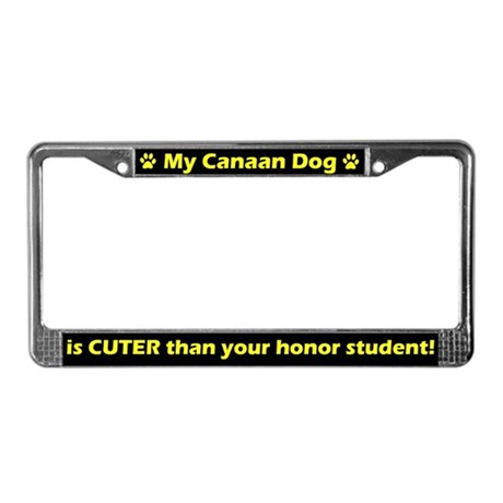 Honor Student Canaan Dog License Plate Frame