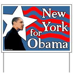 New York for Barack Obama Yard Sign