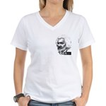 Frederick Douglass Women's V-Neck T-Shirt