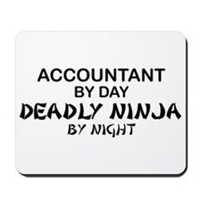 Accountant Deadly Ninja by Night Mousepad