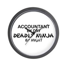 Accountant Deadly Ninja by Night Wall Clock