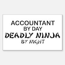 Accountant Deadly Ninja by Night Sticker (Rectangu