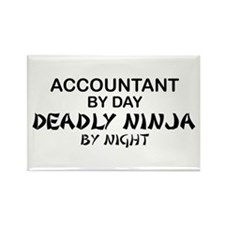 Accountant Deadly Ninja by Night Rectangle Magnet
