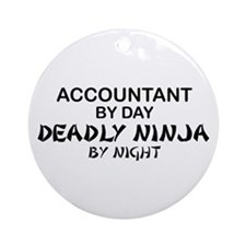 Accountant Deadly Ninja by Night Ornament (Round)