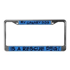 Rescue Dog Canary Dog License Plate Frame