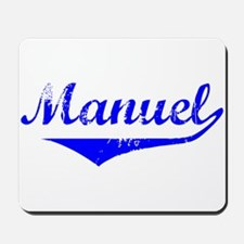 Manuel Vintage (Blue) Mousepad
