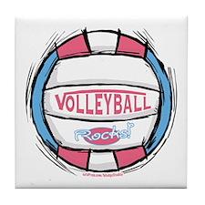 Girl's Women's Vball Tile Coaster