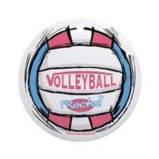 Girl's Women's Vball Ornament (Round)
