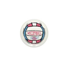 Girl's Women's Vball Mini Button