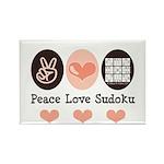 Peace Love Sudoku Rectangle Magnet