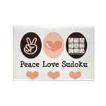 Peace Love Sudoku Rectangle Magnet (100 pack)