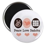 Peace Love Sudoku Magnet