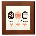 Peace Love Sudoku Framed Tile