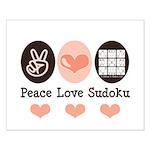 Peace Love Sudoku Small Poster